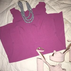 LOFT Scalloped Dress